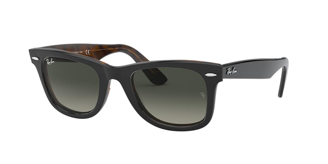 Ray Ban Unisex  RB2140 ORIGINAL WAYFARER COLOR MIX -  Frame color: Grey, Lens color: Grey-Black, Size 50-22/150