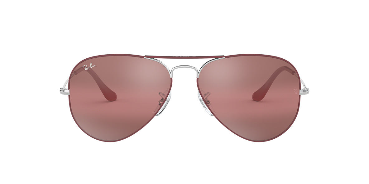 Bordeaux RB3025 AVIATOR MIRROR Violet  55