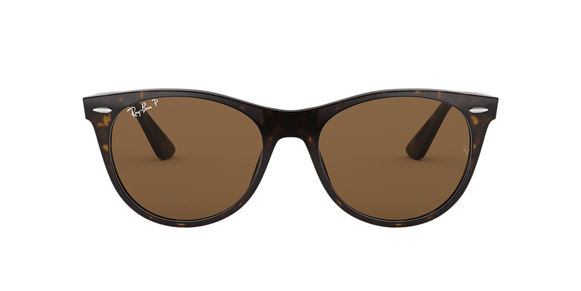 f4c37a30d7 Striped Havana RB2185 Polarized Brown Classic B-15 polarised lenses 55mm