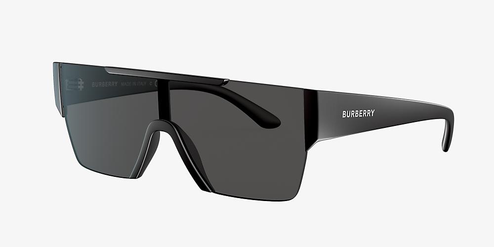 e6a59e9ef228 Burberry BE4291 01 Grey-Black & Black Sunglasses | Sunglass Hut USA