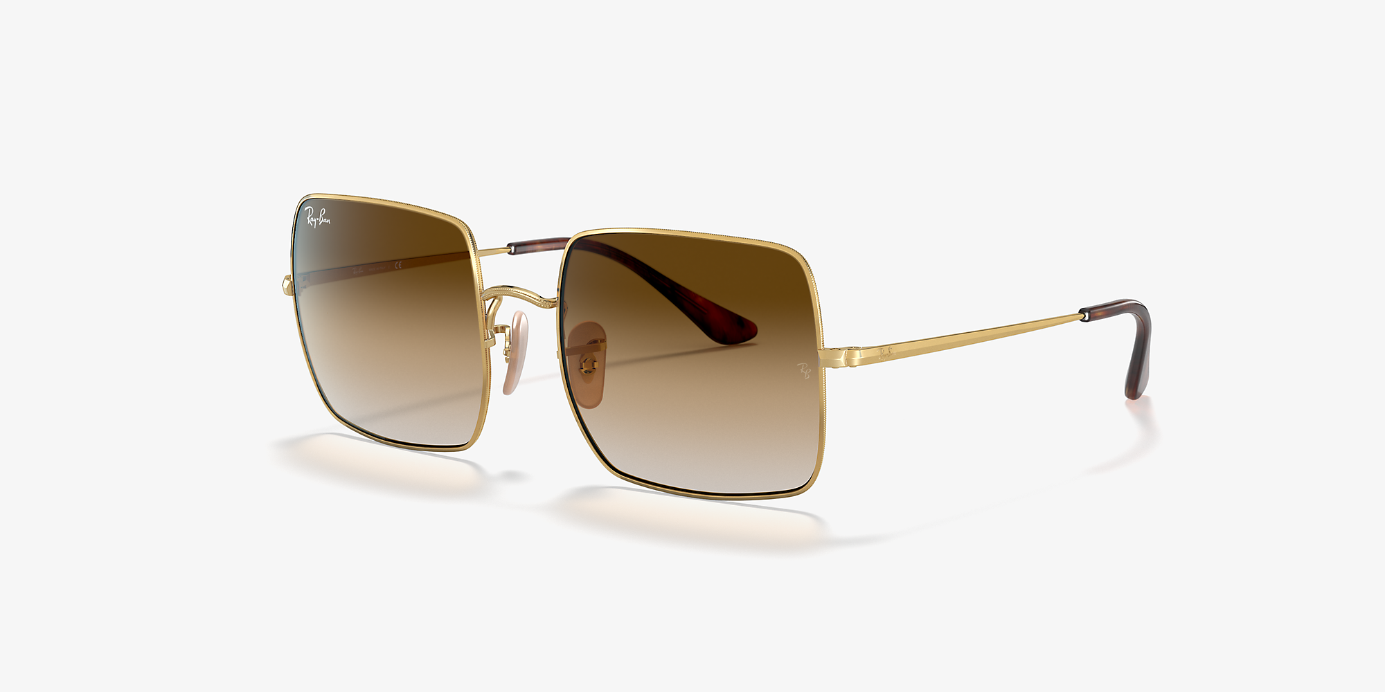 705c6605f67b Ray-Ban RB1971 SQUARE 1971 CLASSIC Gold/Light Brown image 1 ...