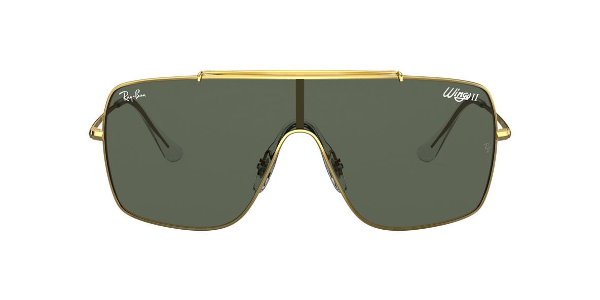 Gold RB3697 WINGS II Green  01