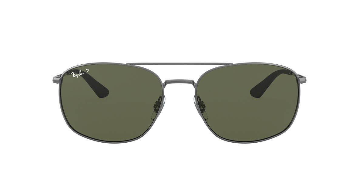 Gunmetal RB3654 Green  60