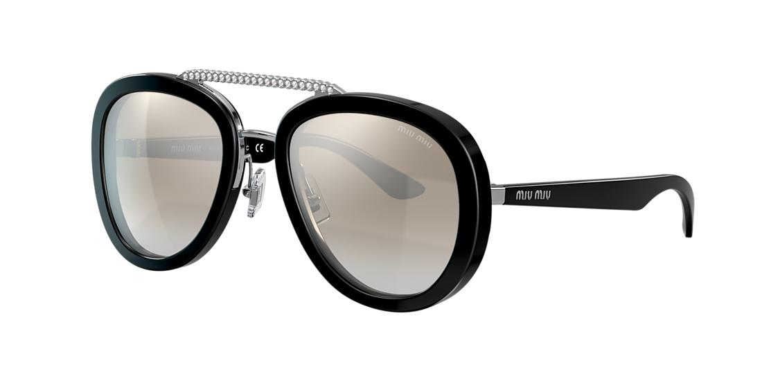 Miu Miu Woman  MU 05VS -  Frame color: Black, Lens color: Silver