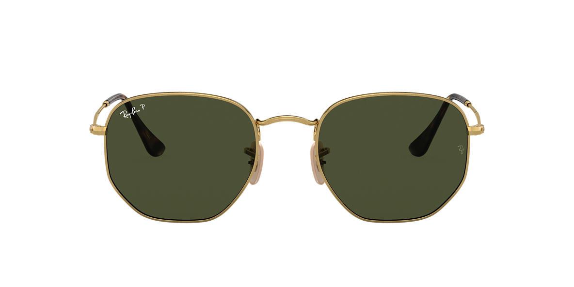 Gold RB3548N HEXAGONAL FLAT LENSES Green  51