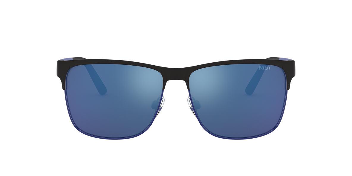 Matte Black PH3128 Blue Mirror