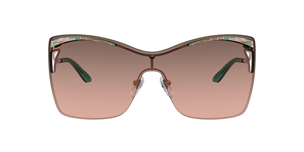 Pink Gold BV6138 Serpenti Brown/Pink Gradient