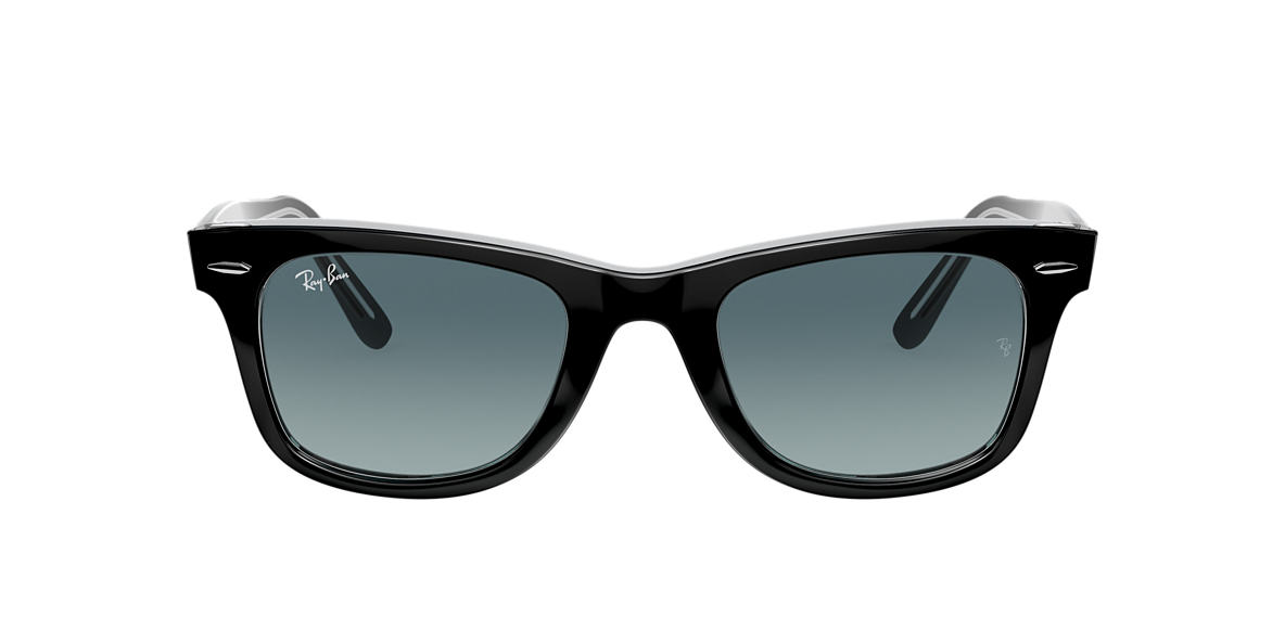 Negro RB2140 ORIGINAL WAYFARER BICOLOR Blue Gradient  50