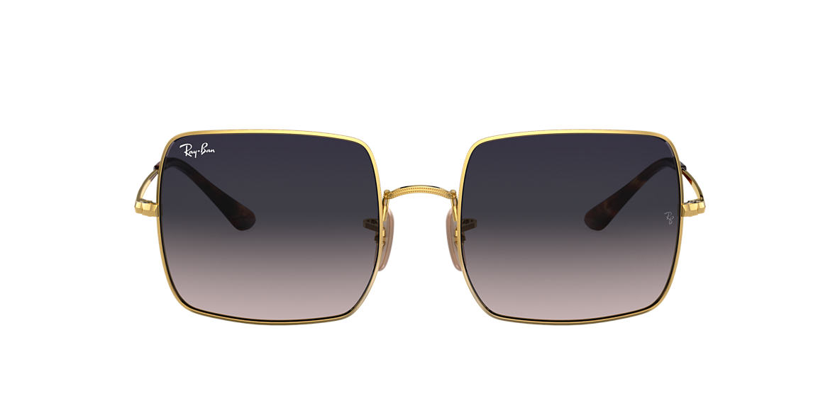 Gold RB1971 SQUARE CLASSIC Polarized Blue/Grey Gradient  54
