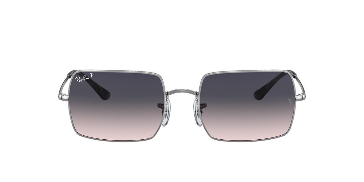 Plata RB1969 RECTANGLE 1969 Polarized Blue/Grey Gradient  54