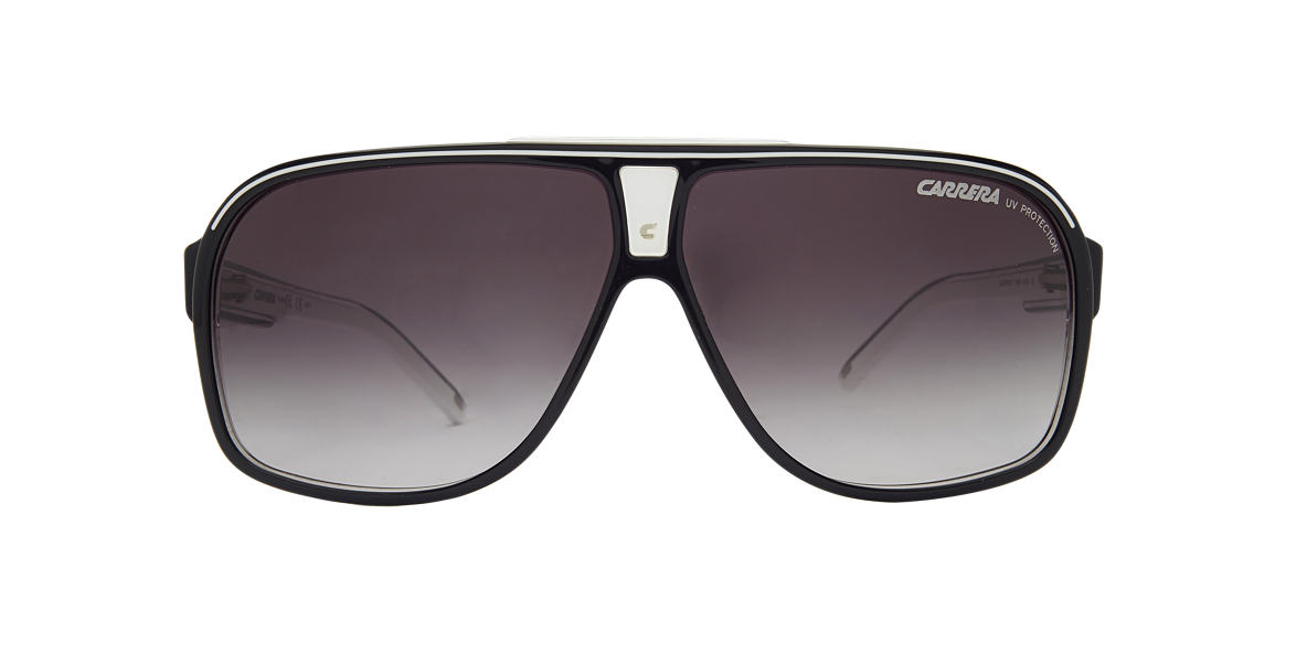 720ac161cf85 Carrera 5S000369 64 Grey-Black & Black Sunglasses | Sunglass Hut ...