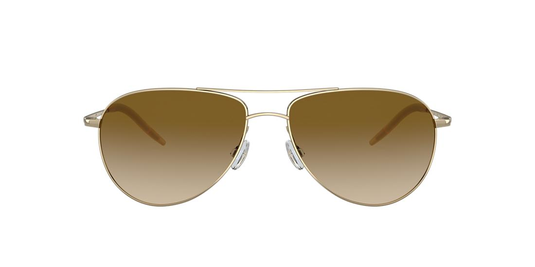 4dee5bfee68 Oliver Peoples OV1002S 59 Brown   Gold Sunglasses