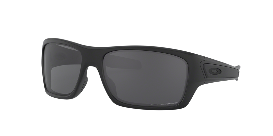 69bed79f780 Oakley OO9263 TURBINE 65 Grey-Black   Black Polarized Sunglasses ...