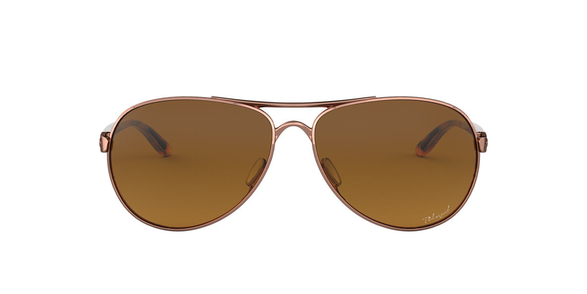 0017bd59178 Oakley OO4079 59 Brown   Gold Polarized Sunglasses