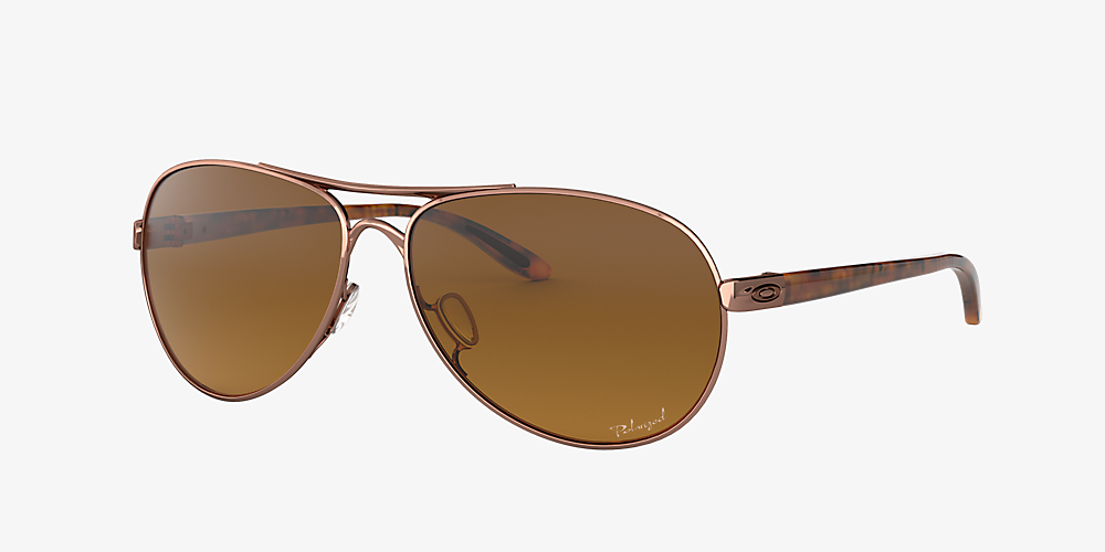 85838df76 Oakley OO4079 Feedback™ 59 Brown & Gold Polarized Sunglasses ...