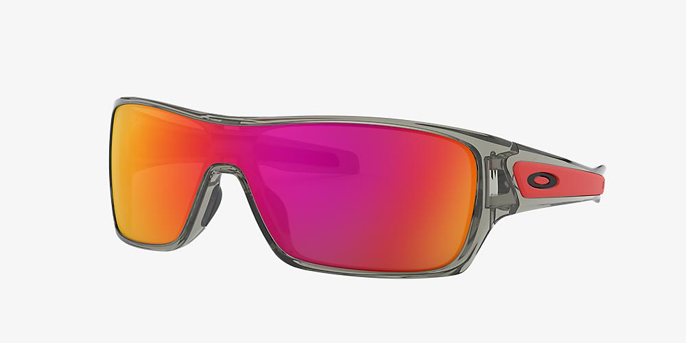 11784e1c42e5 Oakley OO9307 TURBINE ROTOR 01 Red & Grey Sunglasses | Sunglass Hut USA