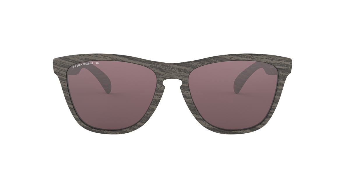 White OO9013 Frogskins™ Woodgrain Collection Silver  55