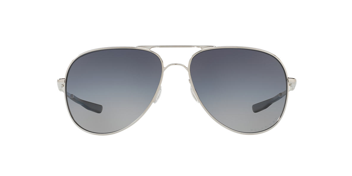 2a1ec812134 Oakley OO4119 60 Grey-Black   Silver Polarised Sunglasses