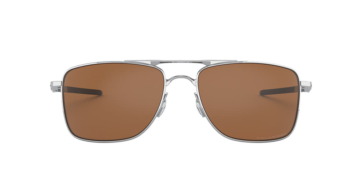 789acf4cd Oakley OO4124 Gauge™ 8 62 Brown & Silver Polarised Sunglasses ...