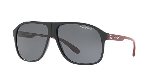 Image of Arnette An4243 Black Square Sunglasses 888392337917