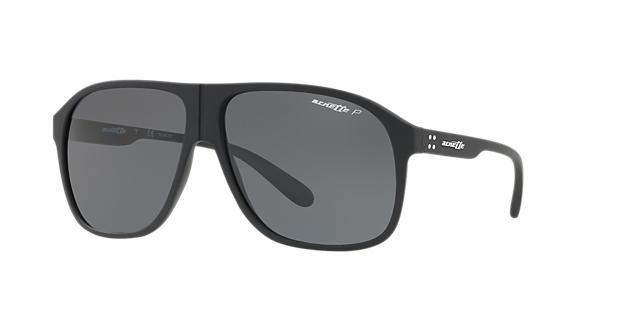 Image of Arnette An4243 Black Square Sunglasses 888392337924