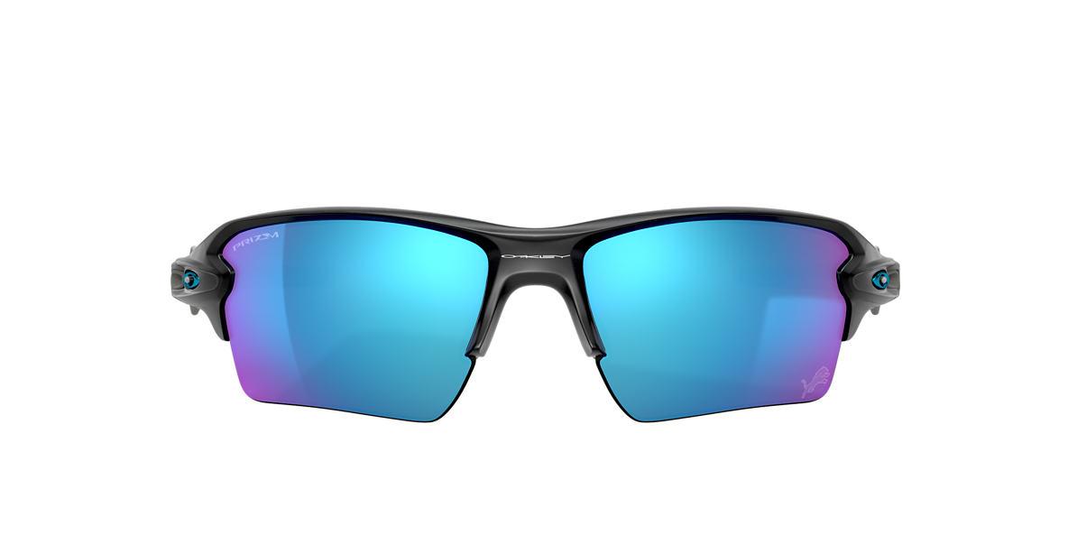 Matte Black Detroit Lions Flak® 2.0 XL Blue
