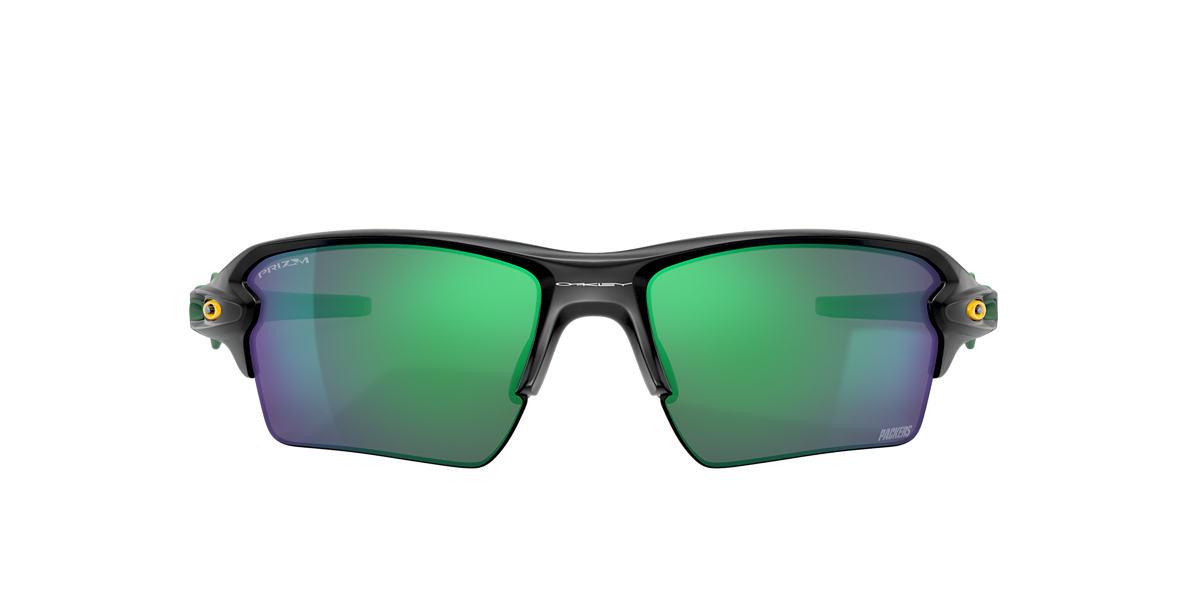 Matte Black Green Bay Packers Flak® 2.0 XL Green