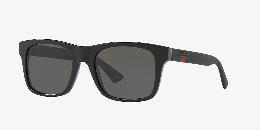 c5cf99359e Gucci null 53 Grey-Black & Black Polarized Sunglasses | Sunglass Hut ...