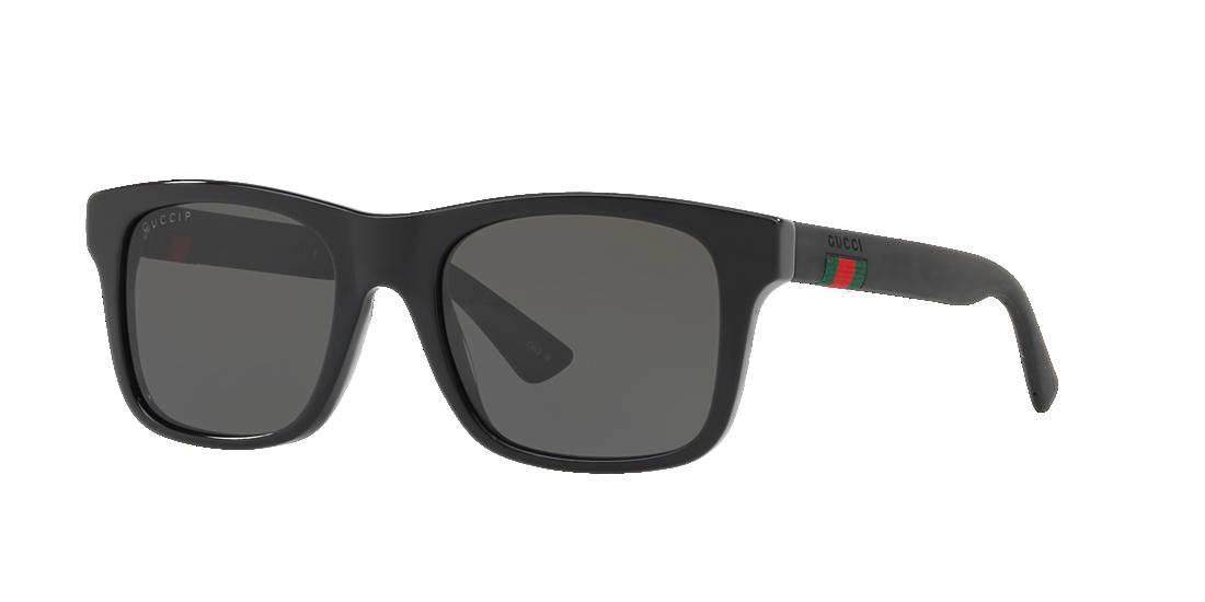 e6feaa183af Gucci GG0008S 53 Grey-Black   Black Polarized Sunglasses