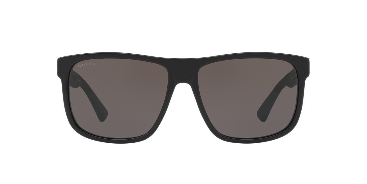 4459b333e85 Gucci GG0010S 58 Grey-Black   Black Sunglasses