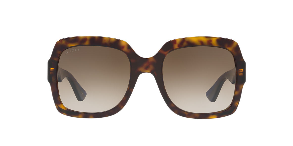 a464c234375 Gucci GG0036S 54 Brown   Tortoise Sunglasses