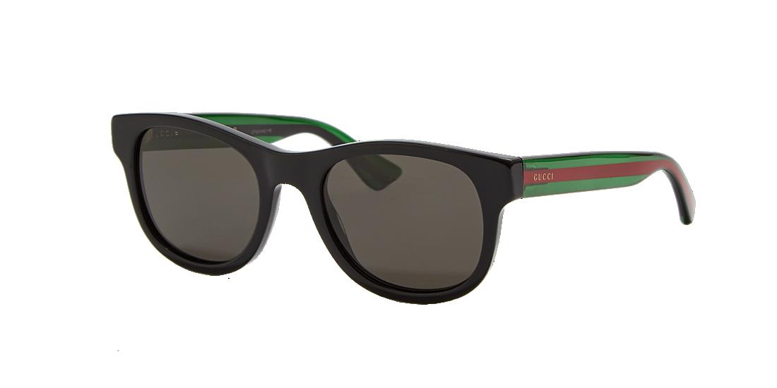 c9e96552f8 Gucci GG0003S 52 Grey-Black   Black Sunglasses