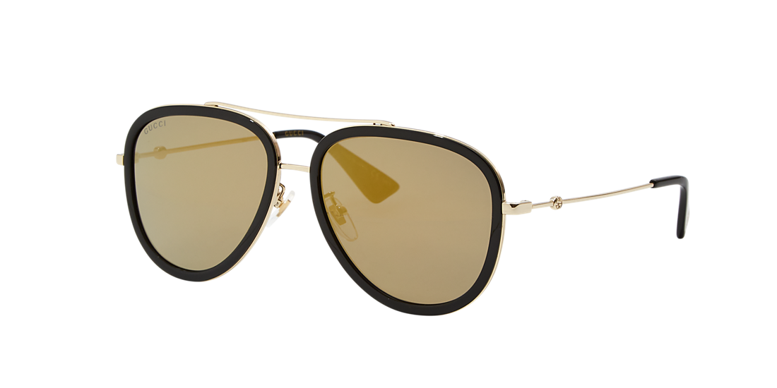 81551cab96b Gucci GG0062S 57 Gold   Gold Polarized Sunglasses