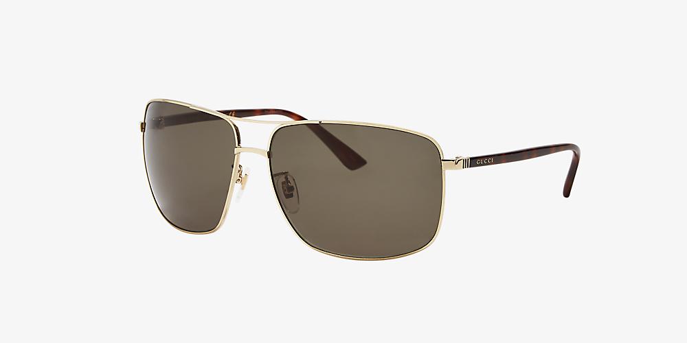 ef123966f29b Gucci null 66 Green & Gold Sunglasses | Sunglass Hut USA