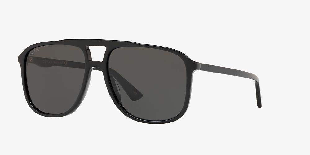 9c0762821 Gucci GG0262S 58 Grey-Black & Black Sunglasses | Sunglass Hut United ...