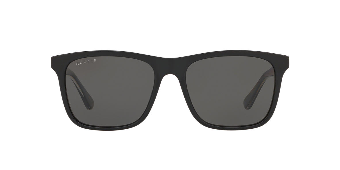 Black GG0381S Grey-Black  57