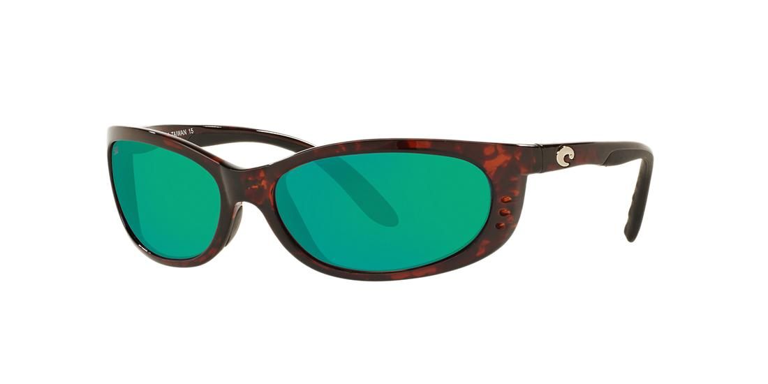 Costa Del Mar Unisex  FATHOM -  Frame color: Tortoise, Lens color: Green, Size 61-18/118