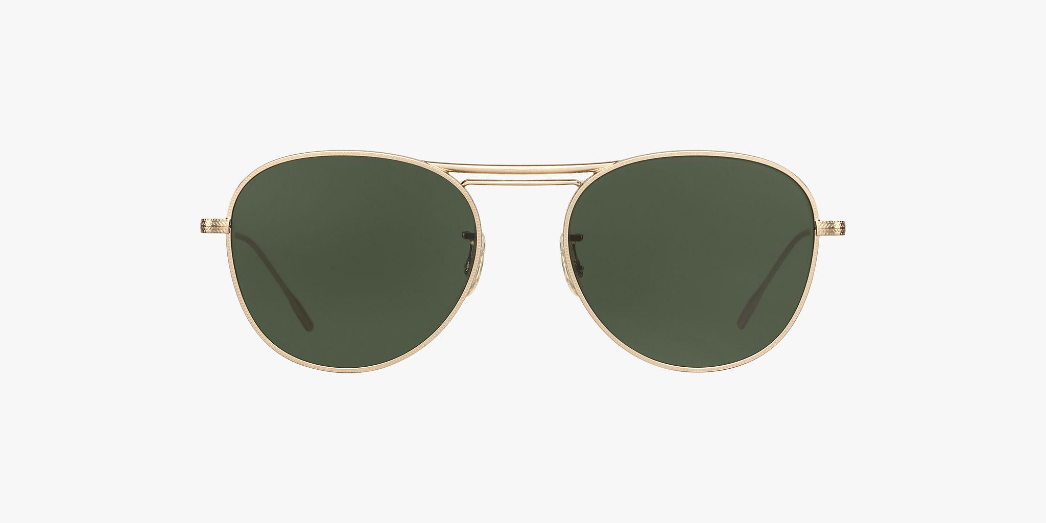 33be89a8d5 Sonnenbrillen OV1226S - Satiniertes Gold - Dark Green - Metall ...