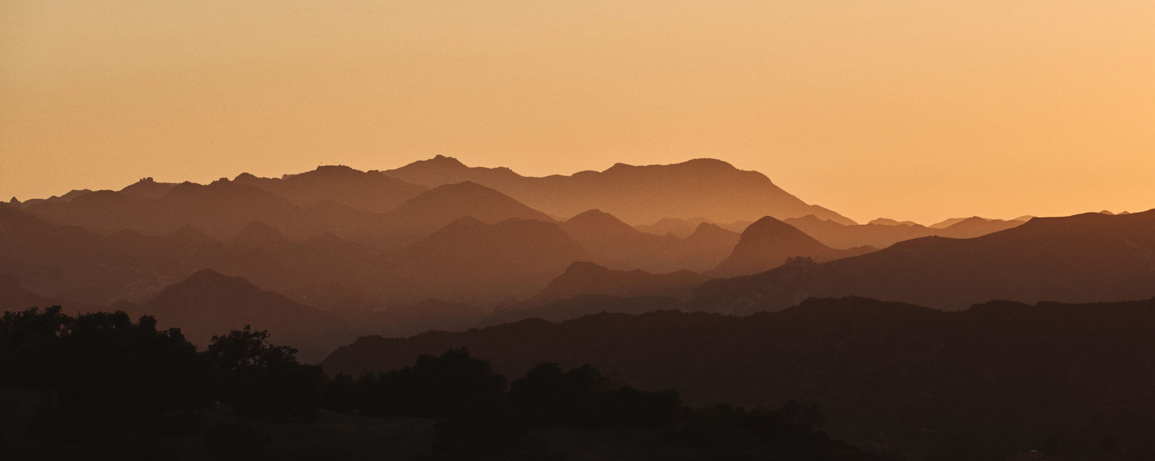 Suggestive hills at sunset