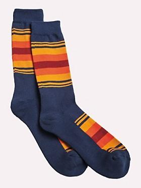 National Park Stripe Crew Socks
