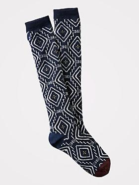 Sunset Cross Knee High Socks