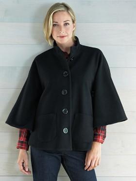 Plush Wool Cape