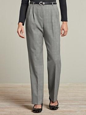 Seasonless Wool Pleat Trousers
