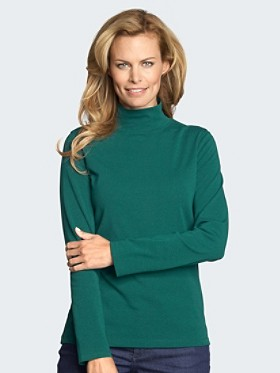 Long-sleeve Mock Turtleneck
