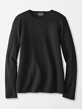 Washable Silk-blend Jewel-neck Pullover