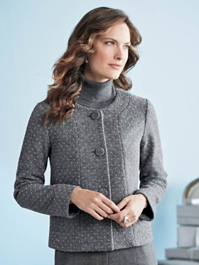 Dot-to-dot Boiled Wool Jacket