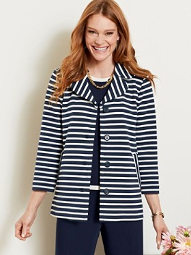 Stripe Knit Jacket