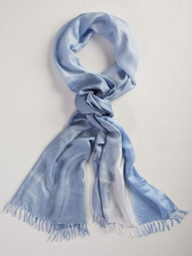 Watercolor Long Silk Scarf