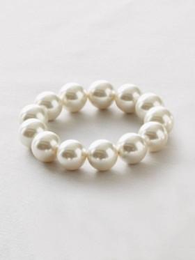 Seashell Pearl Stretch Bracelet
