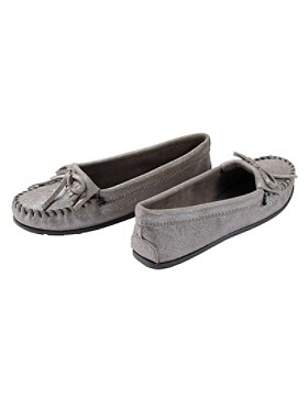 Metallic Suede Moccasins